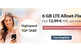 6 GB LTE für nur 12,99 € mtl.