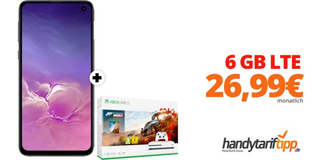 Galaxy S10e & Xbox mit 6 GB LTE nur 26,99€