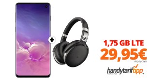 Galaxy S10 & Sennheiser HD 4.50 mit 1,75GB LTE Telekom nur 29,95€