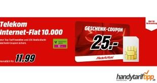 Telekom Internet-Flat mit 10GB LTE eff. nur 11,99€
