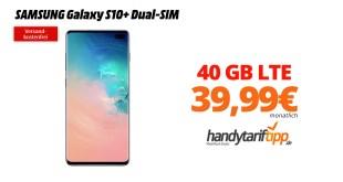 Galaxy S10+ mit 40 GB LTE nur 39,99€