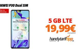 HUAWEI P30 Dual SIM mit 5 GB LTE nur 19,99€