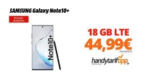 Galaxy Note10+ mit 18GB LTE Telekom nur 44,99€