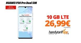 HUAWEI P30 Pro mit 10 GB LTE nur 26,99€