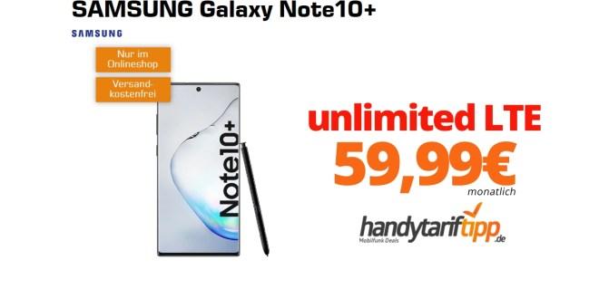 Galaxy Note10+ mit unlimited LTE nur 59,99€