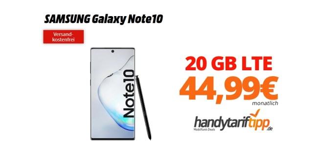 Galaxy Note10 mit 20GB LTE nur 44,99€