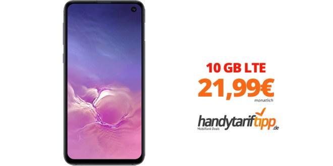 Galaxy S10e mit 10GB LTE nur 21,99€