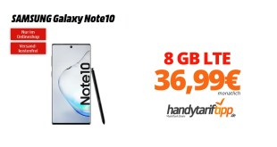 Galaxy Note10 mit 8 GB LTE Telekom nur 36,99€