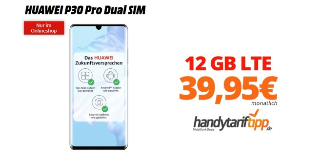 HUAWEI P30 Pro mit 12 GB LTE Telekom nur 39,95€