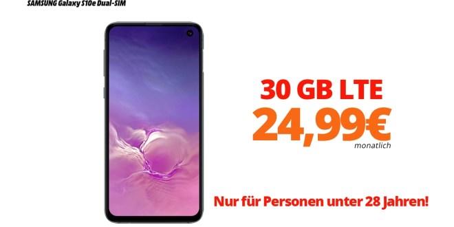Galaxy S10e mit 30GB LTE nur 24,99€