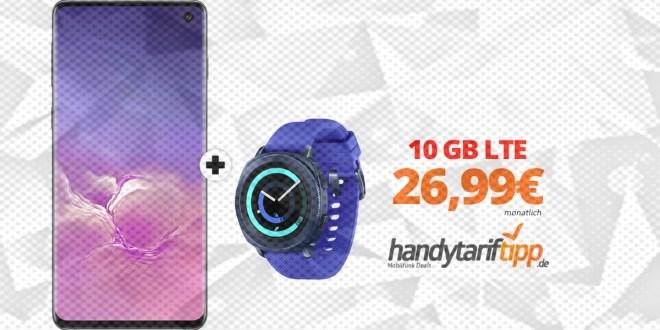 Galaxy S10 & Gear Sport Smartwatch mit 10GB LTE nur 26,99€