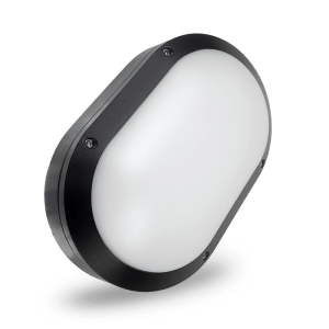 HANECO DAWN LED BUNKER LIGHT 16W OVAL 280MMX185MM TRITONE BLACK