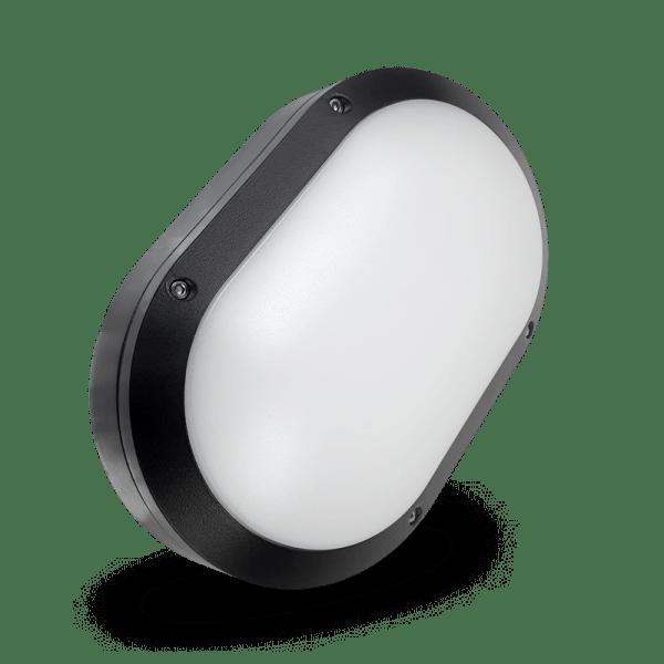HANECO DAWN LED BUNKER LIGHT 16W OVAL 280MMX185MM TRITONE BLACK