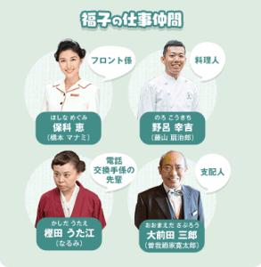 まんぷく キャストの相関図 福子の仕事仲間