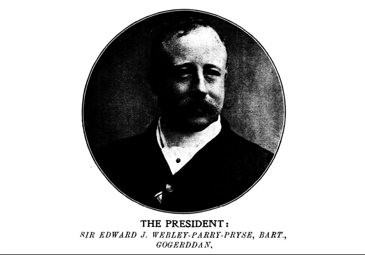 Y Llywydd Syr Edward J. Webley-Parry-Pryse, Bart, Gogerddan
