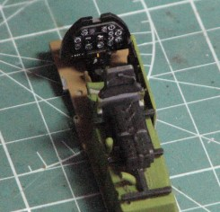 Hasegawa's cockpit for the P-51 is very well detailed right out of the box, as these photos highlighting the seat and instrument panel detail reveal.