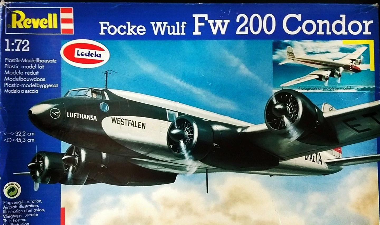 Focke Wulf FW 200 Condor 1 200 Lufthansa 1937 Plane WWII Germany