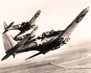 U.S. Navy Dauntless dive bombers