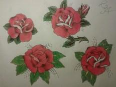 rose rosse tattoo, tatuagio rosa