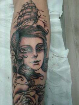 lady rose tattoo