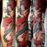 sirena mermaid traditional tattoo