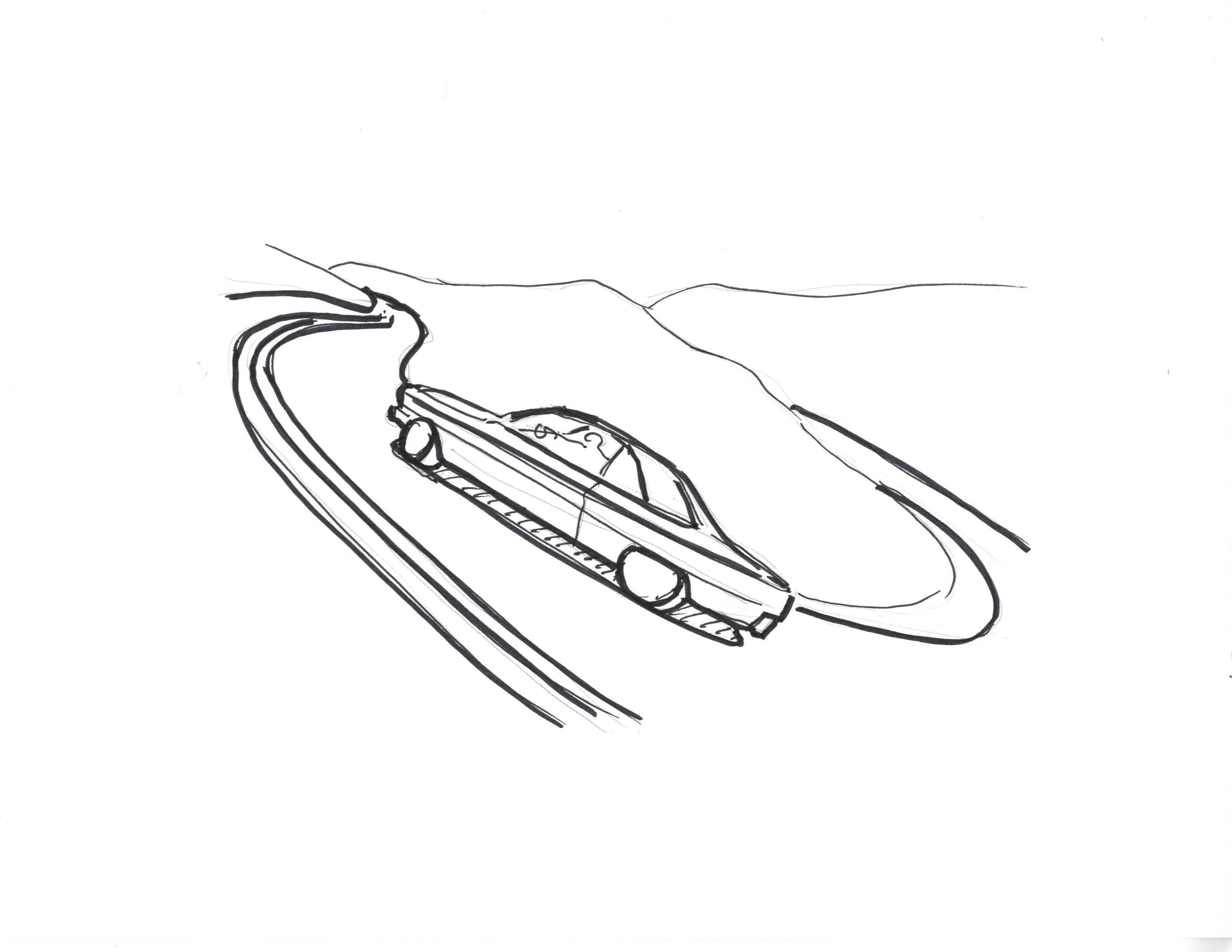 Hairpin corner a car going through a hairpin corner in a high speed is called sharp turn