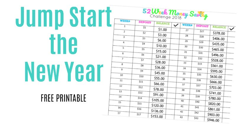 Jump Start the New Year-52-Week Money Challenge