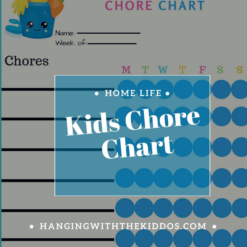 Printable FREE KIDS CHORE CHART