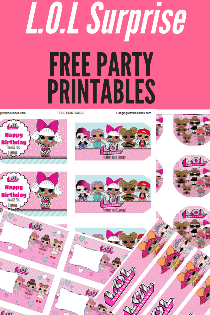 Free L.O.L Surprise  Party Printables