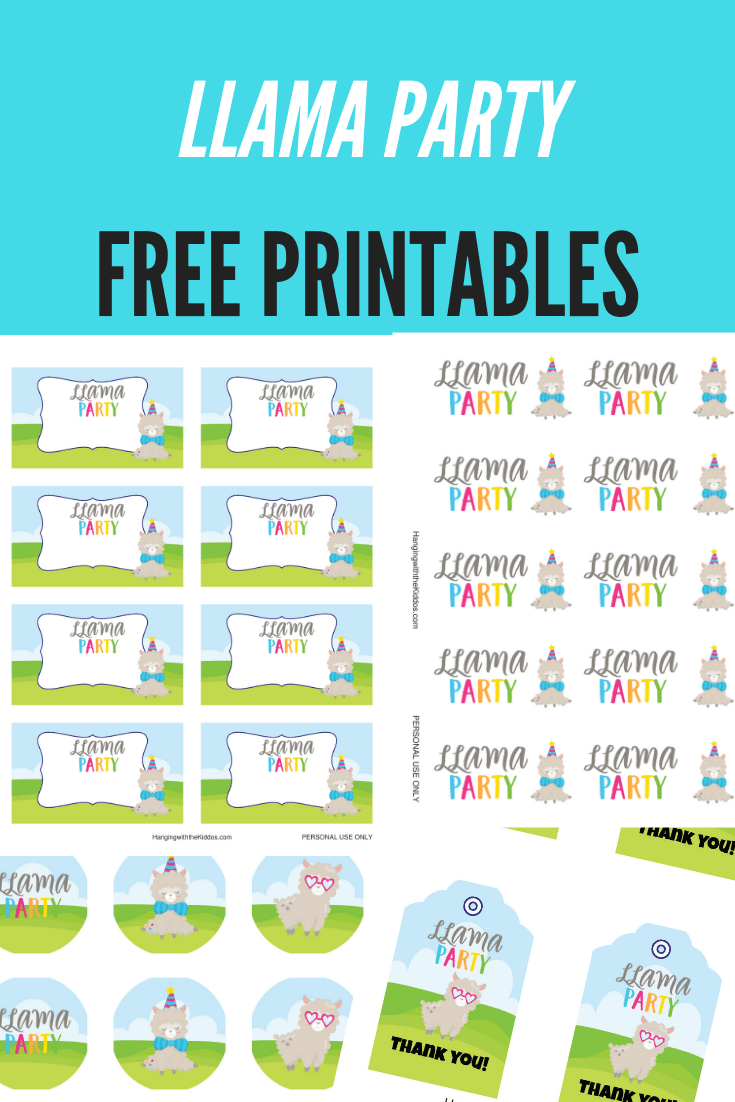 Llama Party Printables