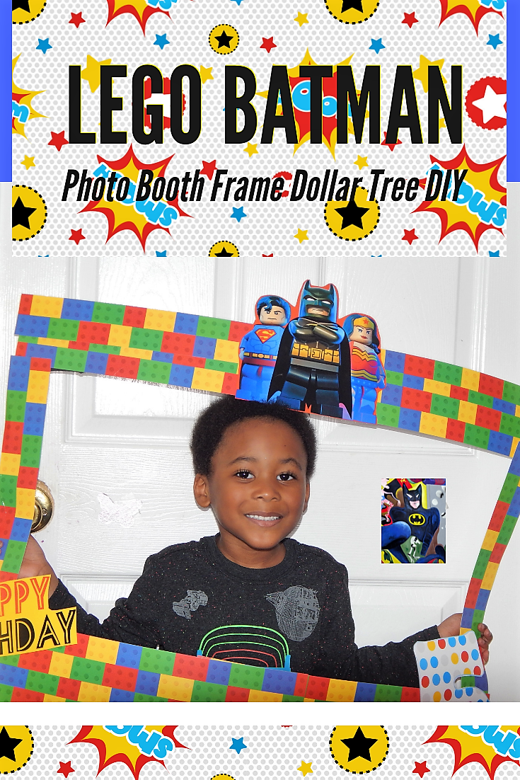 Lego Batman Photo Booth Frame Dollar Tree DIY