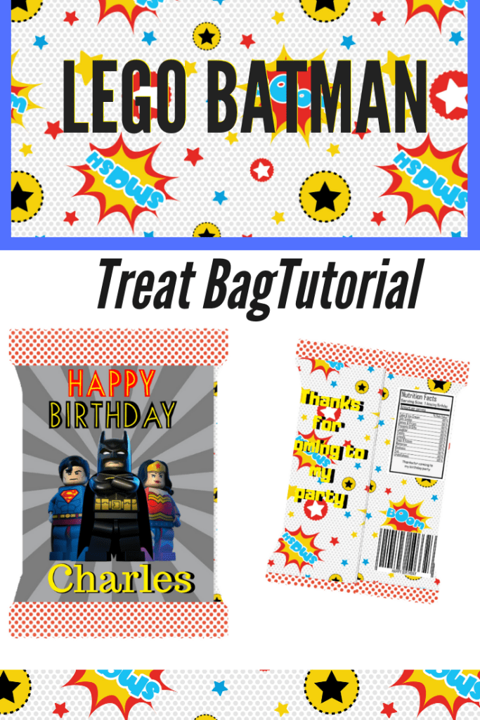 Lego Batman Treat Bag:Tutorial