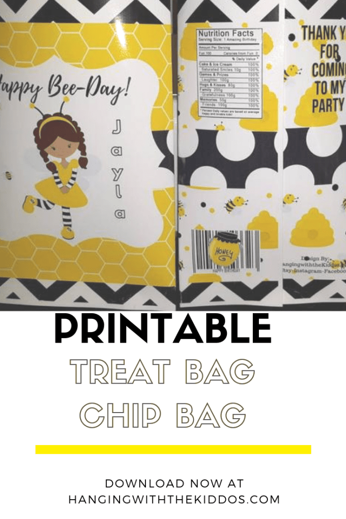 Bumblebee party favor bags-Chip Bag Tutorial