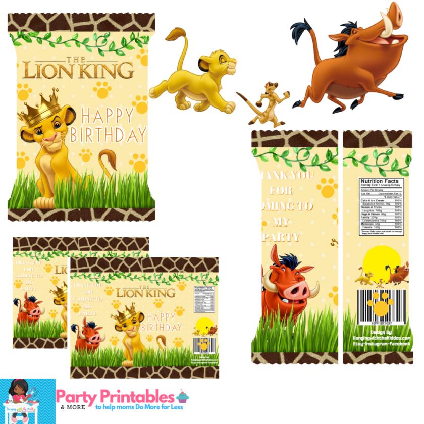 Lion King Party Favors