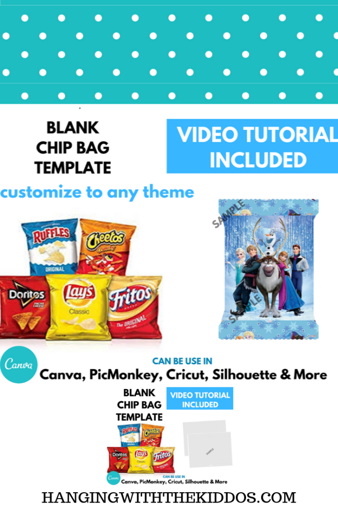 Chip Bag Template: How to make your own Custom Party Favors