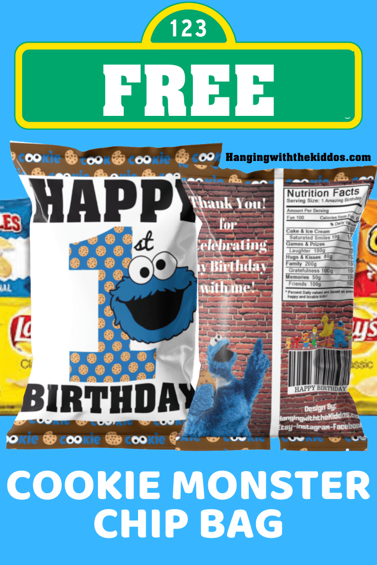 COOKIE MONSTER 1ST BIRTHDAY CHI BAG
