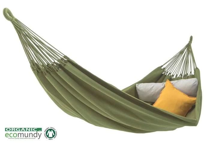 hangmat   effen groen   2-persoons   BIO katoen – GOTS   ecomundy pure XL 380