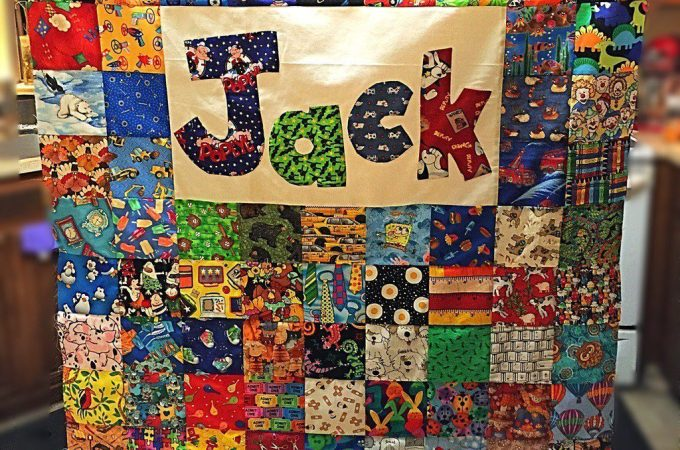Jacks I Spy Baby Quilt Top