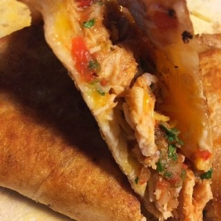 Leftover BBQ Chicken Mexican Quesadillas