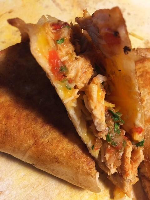 Leftover BBQ Chicken Mexican Quesadillas