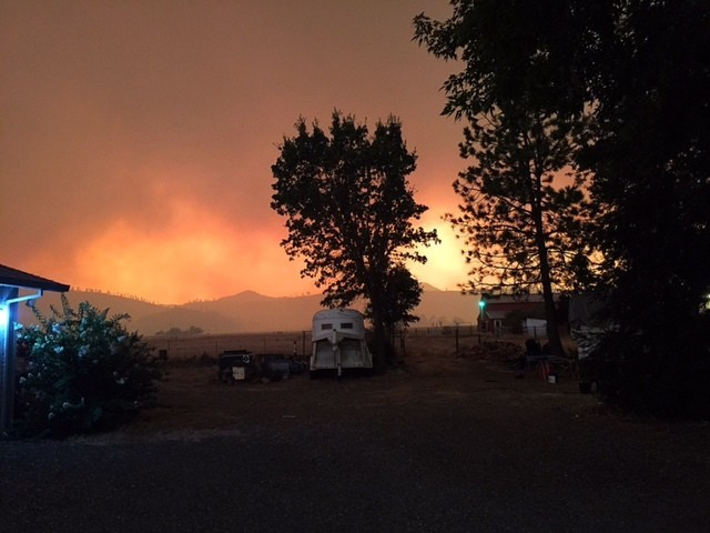Valley Fire @ 5:57 pm
