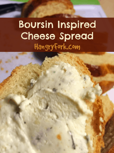 Boursin Inspired Cheese Spread Recipe