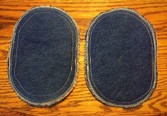 Denim Oval Potholders