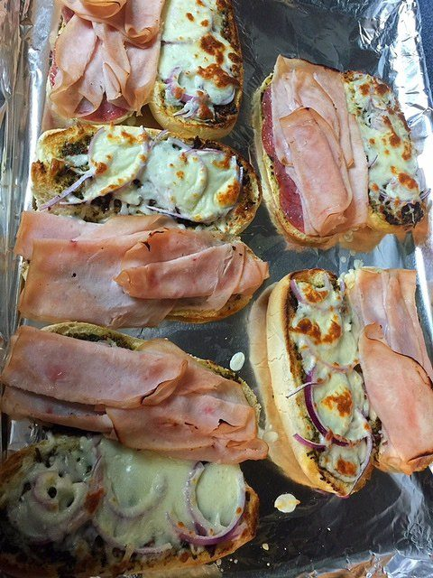 Hot Turkey Sandwiches Mozzarella