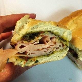 Hot Turkey Sandwiches with Pesto