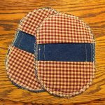 Oval Denim Potholders