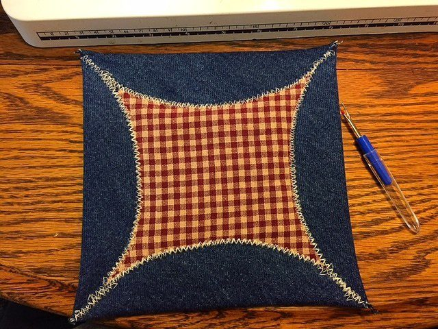 Square Denim Potholders