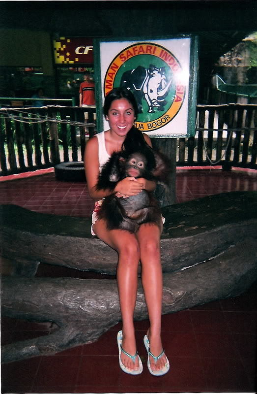 Alyssa with an Orangutan