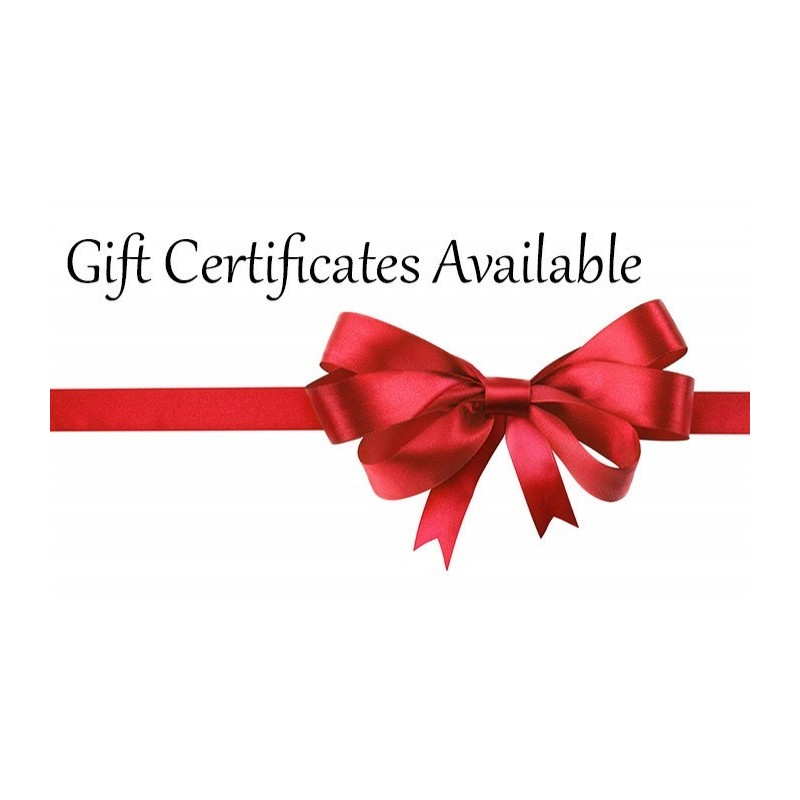 Gift Certificates Available For Any Workshop On Any Date