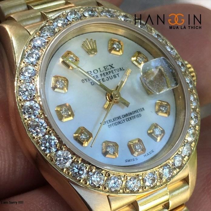 Rolex President Day Date 18038 Mop Diamond Dial & Bezel 18k Yellow Gold - 2